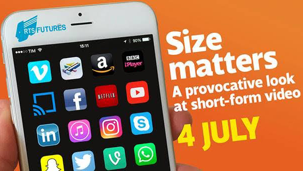 advert for event featuring smartphone with streaming apps